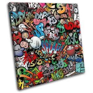 Funky Abstract Graffiti - 13-0690(00B)-SG11-LO